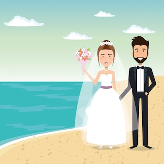 Apenas casal na praia