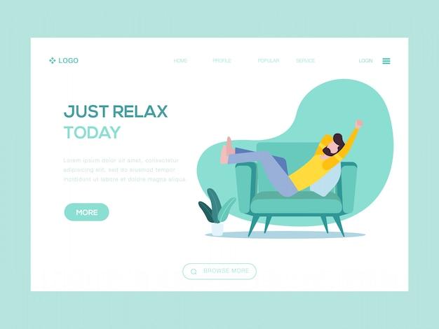 Apenas relaxe hoje ilustração web