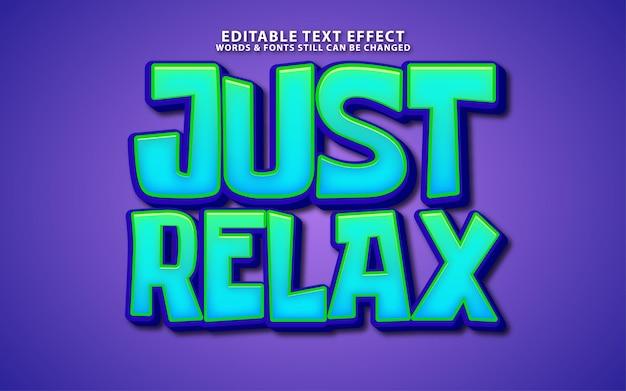 Apenas relaxe o efeito de texto vetorial da editale