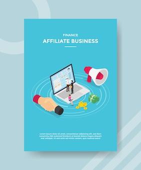 Aperto de mão de empresários afiliados de finanças com dinheiro de laptop