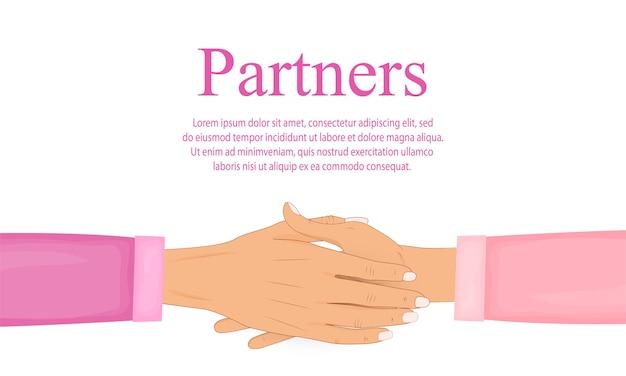 Aperto de mão de parceiros de negócios. apertando as mãos. símbolo de acordo, sucesso e cooperação.