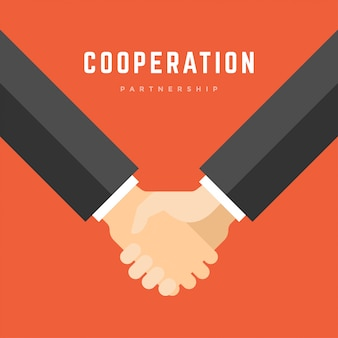 Aperto de mão do empresário, parceria de negócios de cooperação ilustração plana