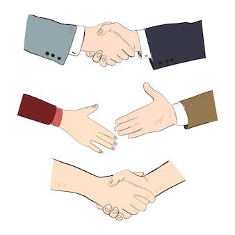Aperto de mão dos parceiros de negócios