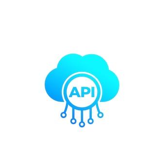 Api, interface de programação de aplicativo, ícone de integração de software em nuvem