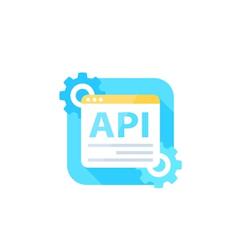 Api, interface de programação de aplicativo, ícone de vetor de integração de software