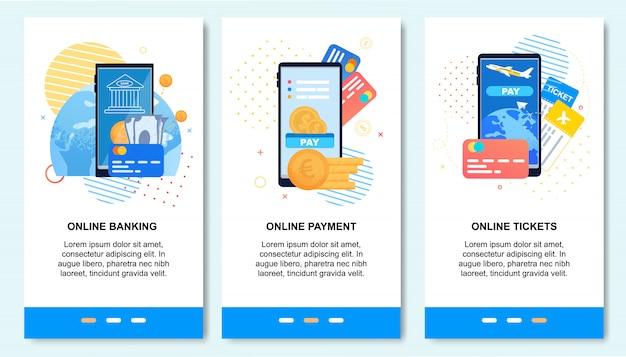 Aplicação móvel para pagamento on-line, serviços bancários,