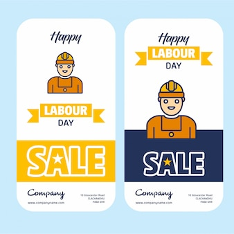 Aplicativo da web do dia do trabalhador