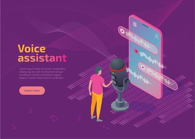 Aplicativo de assistente de voz para modelo de página de destino