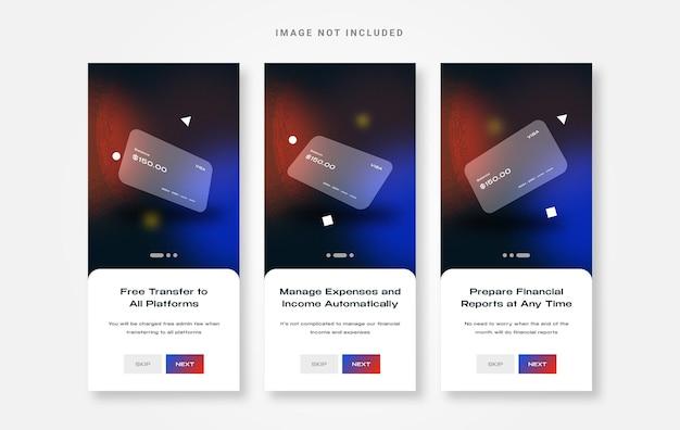 Aplicativo de carteira de design de interface do usuário integrado