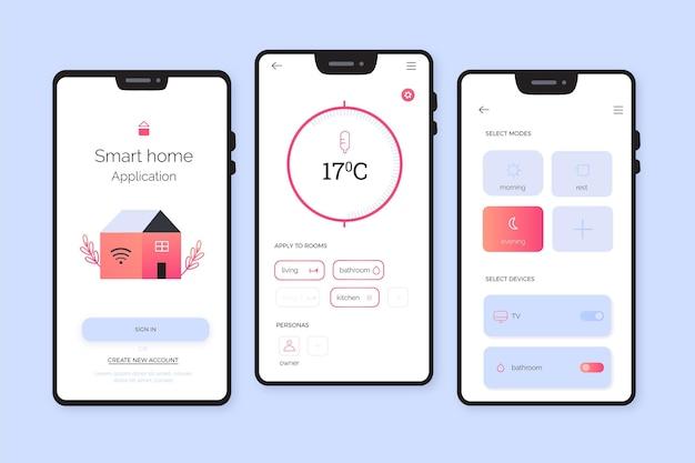 Aplicativo de casa inteligente