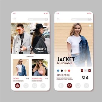 Aplicativo de compras de moda