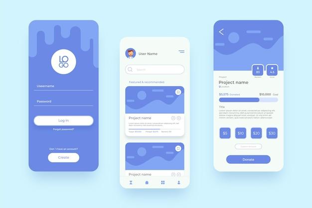 Aplicativo de crowdfunding para celulares