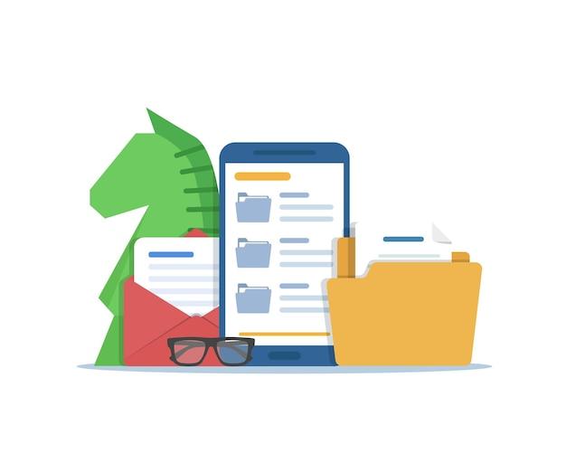 Aplicativo de e-mail, marketing, smartphone e e-mail
