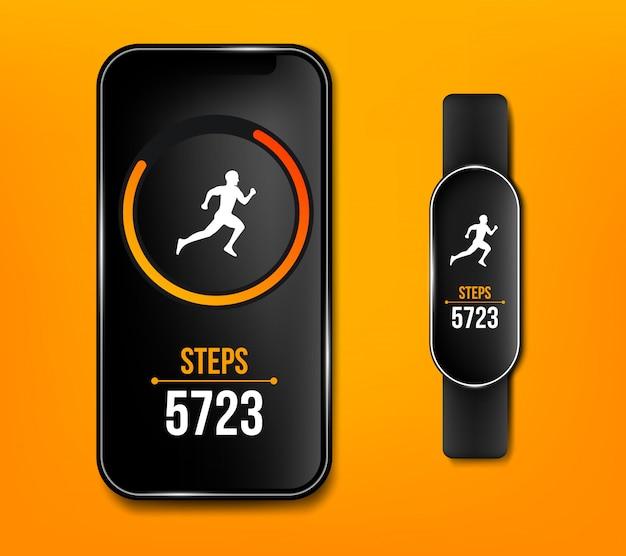 Aplicativo de execução de telefone celular de fitness