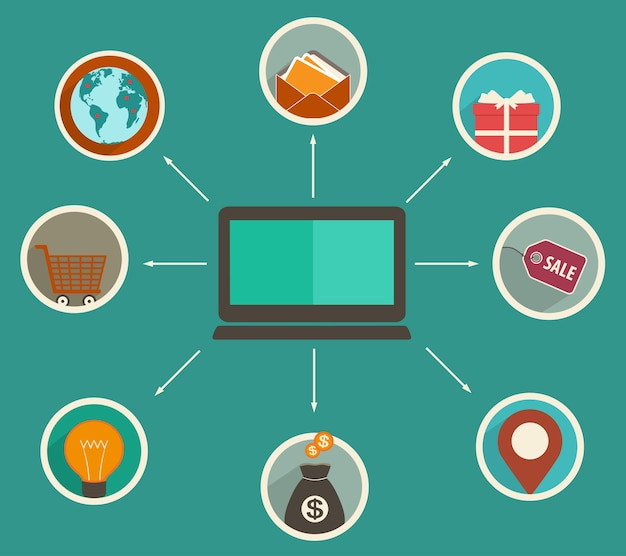 Aplicativo de finanças online, rastreamento de análises financeiras em um dispositivo digital, compras online.