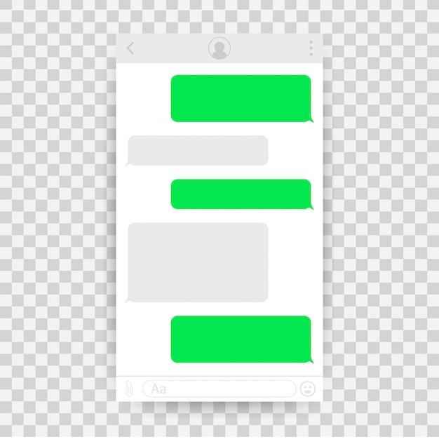 Aplicativo de interface de bate-papo com janela de diálogo.