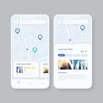 Aplicativo de localização no smartphone