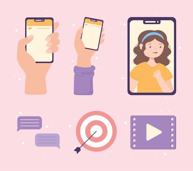 Aplicativo de marketing de vídeo