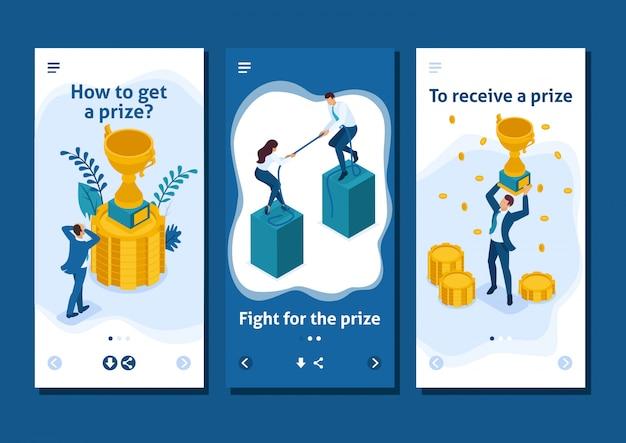 Aplicativo de modelo isométrico atingindo a meta de qualquer forma, obtenha a vitória, aplicativos para smartphone