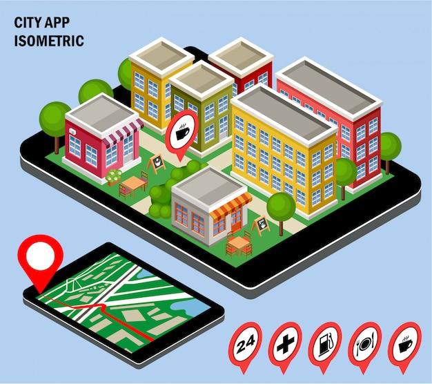Aplicativo de navegação da cidade.