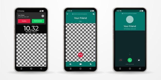 Aplicativo de página whatsapp no smartphone