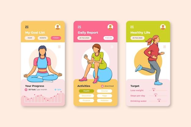 Aplicativo de rastreamento móvel de metas e hábitos esportivos