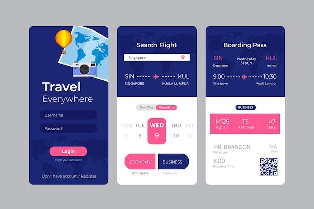 Aplicativo de reserva de viagens
