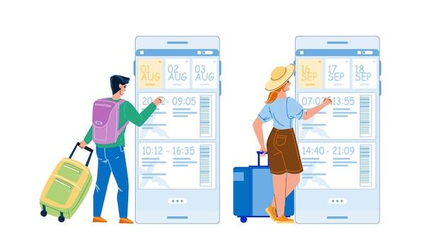 Aplicativo de reserva de voo online por telefone