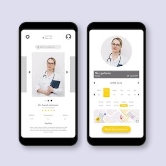 Aplicativo de reserva médica com foto