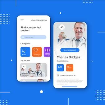 Aplicativo de reserva médica com médico