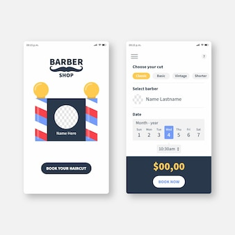 Aplicativo de reservas para barbearia
