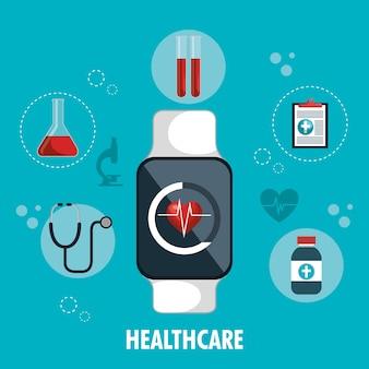 Aplicativo de serviço de assistência médica digital de relógio inteligente