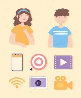 Aplicativo de vídeo de pessoas