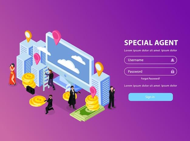 Aplicativo especial de login de agente