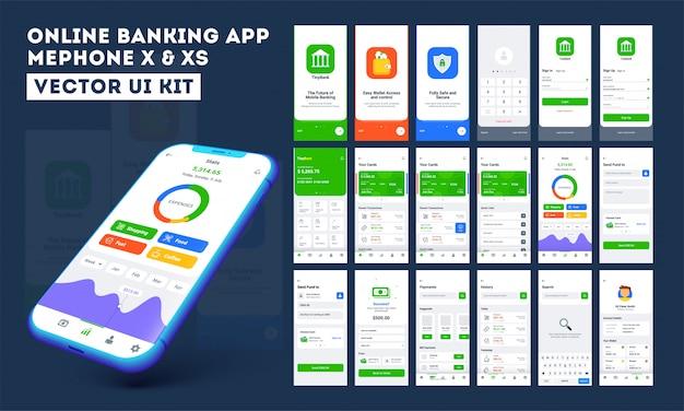 Aplicativo móvel bancário on-line.