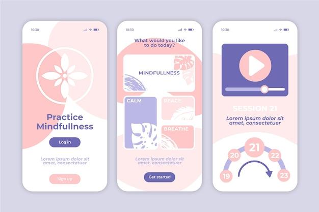 Aplicativo móvel de meditação mindfullness
