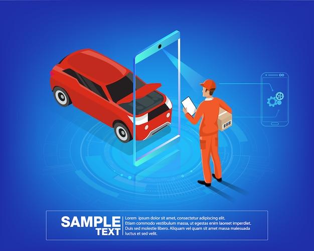 Aplicativo móvel de serviços automáticos