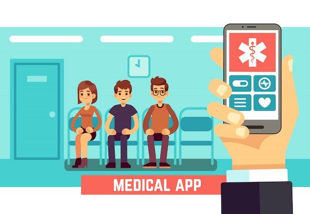 Aplicativo móvel do telefone médico