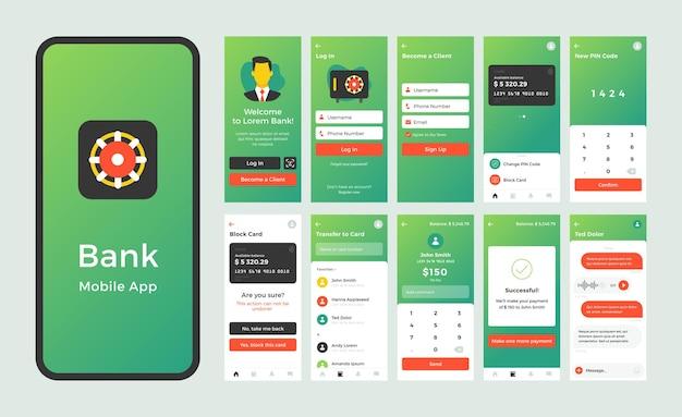 Aplicativo móvel no design da página de embarque