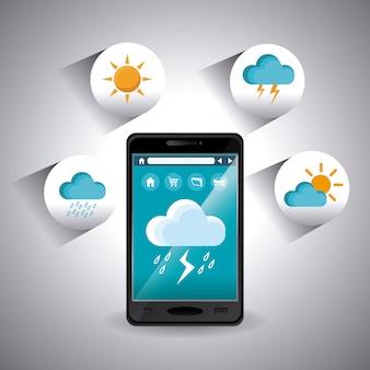Aplicativo móvel para o clima.