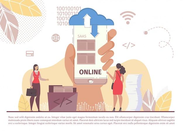 Aplicativo móvel saas internet business cloud technology
