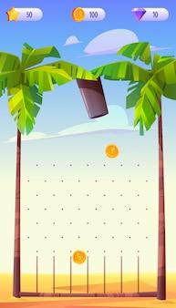 Aplicativo para jogos para dispositivos móveis, interface de aplicativo