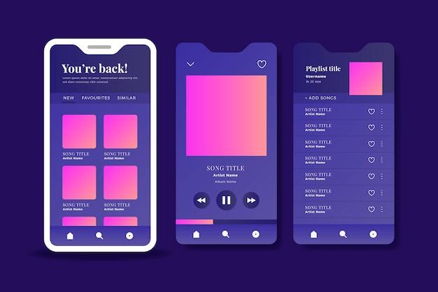 Aplicativo player de música para smartphones Vetor grátis