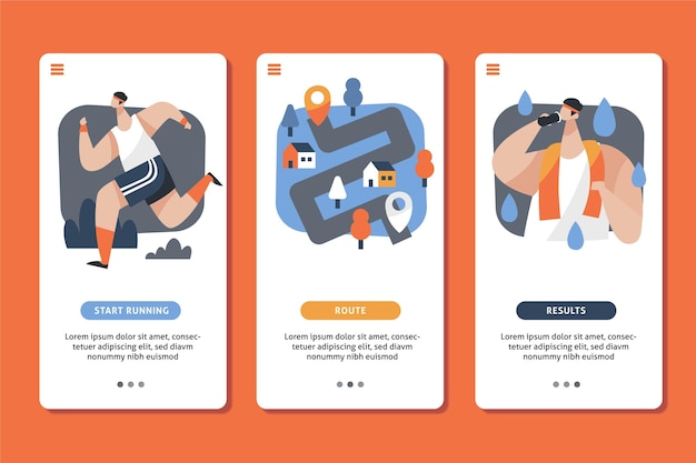 Aplicativo rastreador de treino para telefones celulares