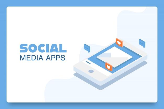 Aplicativos de mídia social