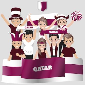 Apoiador da seleção nacional de futebol do qatar pela competição americana