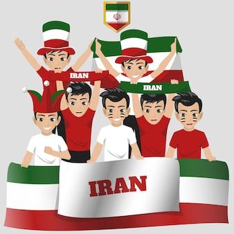 Apoiador da seleção nacional do irã