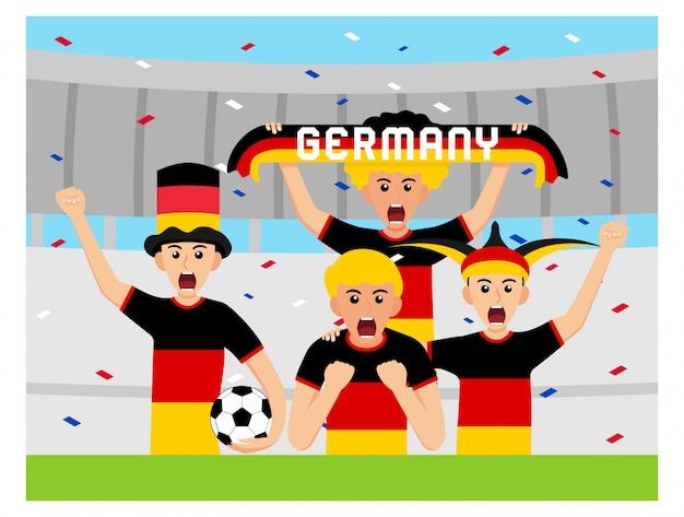Apoiadores alemães em design plano