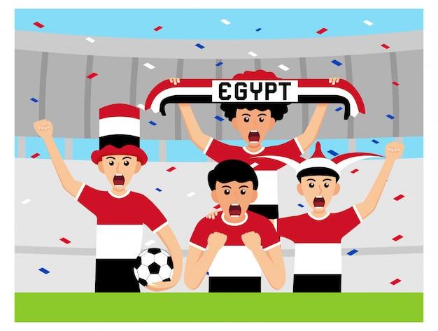Apoiadores egípcios em design plano