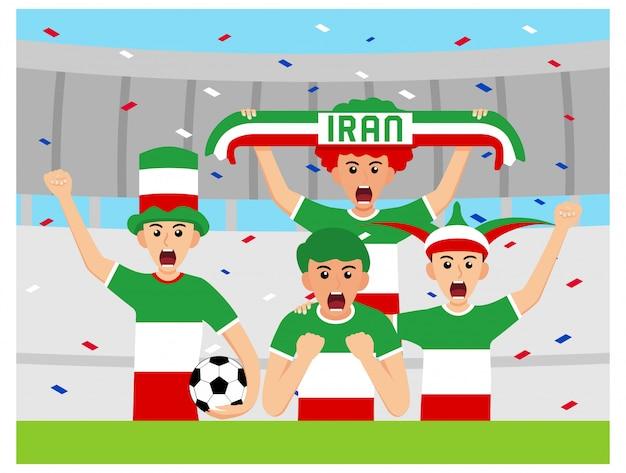 Apoiantes do irã em design plano